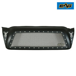Eag Mesh Rivet Grille Stainless Steel With Shell Fit 2005 2011 Toyota Tacoma Fits 2007 Toyota Tacoma