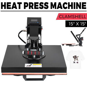 15 x15 Digital Clamshell Heat Press Transfer T shirt Sublimation Press Machine