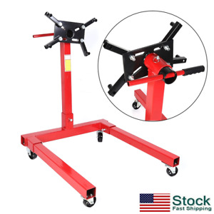 1250lbs Engine Stand Motor Hoist Dolly Mover Auto Repair Rebuild Usa