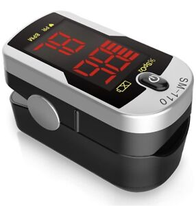 Finger Pulse Oximeter With Carry Case Deluxe Sm 110 Two Way Display Led