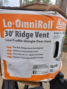 Lomanco Lo omni Roll Lor 30 30 Ft Roof Ridge Vent Missing Nails