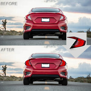 Smoked Led Taillight Daytime Running Lamp Replacement For 2016 2019 Honda Civic