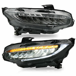 Led Sequential Headlight Left Right For Honda Civic 2016 2017 2018 2019