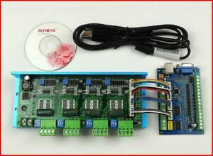 Mach3 Usb Cnc 5 Axis 100khz Smooth Stepper Motion Control Card Breakout