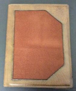 Brown Faux Leather Portfolio Organizer Vtg 70s Legal Pad Slot Inner Pocket Prop