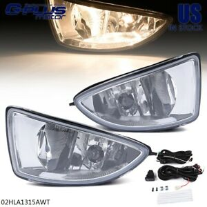 For 2004 2005 Honda Civic Dx Hx Clear Lens Fog Light Lamps W Switch Harness