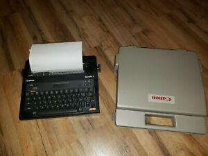 Canon Typestar 5 Electronic Typewriter Great Condition Portable Case Used Ribbon