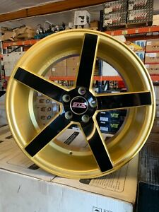 19x10 35 5x114 3 Squared Str 607 Gold With Black Spokes