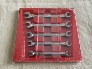 Snap On Tools 5 Piece Sae Open End Flare Nut Wrench Set Rxs605b
