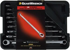 85998 Gearwrench 9 pc Sae Xl Gearbox Double Box Ratcheting Wrench Set