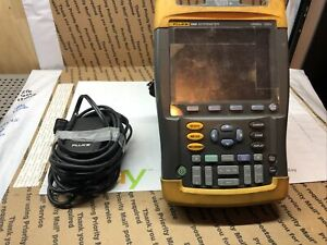Fluke 196b Scopemeter 1gs s Dual input 100mhz Handheld Oscilloscope Parts Unit