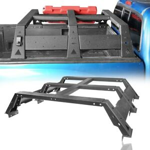Textured Rear High Bed Top Rack Luggage Carrier Basket For Toyota Tacoma 05 21