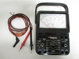 Simpson 260 Series 8p Analog Multimeter W Leads 12391 260 8p