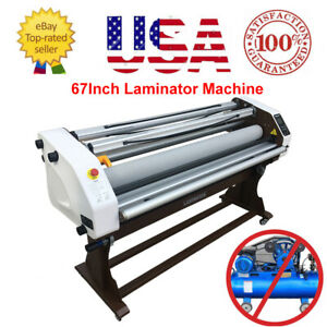 Upgraded 67 1700mm Wide Format Full auto Hot cold Laminating Machines Usa
