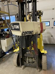 Coffing 1 2 ton Electric Chain Hoist 10 Chain Works Great