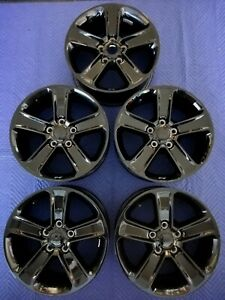 Jeep Wrangler Jl Oem 18 Wheels Tpms Gloss Black Excellent Condition