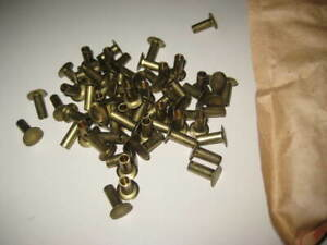 3 16 X 1 2 Tubular Rivet Brass 3 8 Head 100 Pcs Vintage Military Surplus