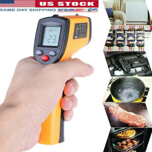 No contact Lcd Ir Laser Infrared Digital Temperature Thermometer Gun Pyrometers