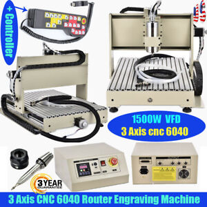 3axis Cnc 6040 Usb Router Engraver Machine Woodwork Cutting Drill 1500w W remote
