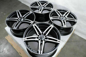 17 Wheels Rims Black Fit Corolla Impreza Scion Xb Honda Civic Accord Altima