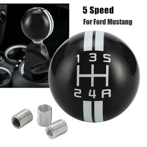 Round 5 Speed Manual Thread Gear Shift Knob Shifter Lever Head For Ford Mustang