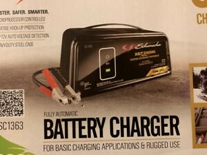 Schumacher Electric 8 amp 6 12 volt Car Battery Charger Heavy Duty Steel Case