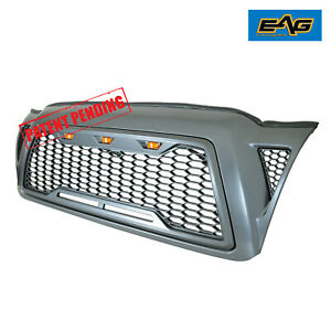 Eag Led Replacement Grille Upper Front Grill Fit For 05 11 Toyota Tacoma Fits 2007 Toyota Tacoma