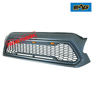 Eag Led Replacement Grille Upper Front Grill Fit For 12 15 Toyota Tacoma