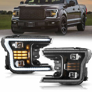 Upgraded Led Projector Headlights W Sequential Signal For 2018 2019 2020 F 150