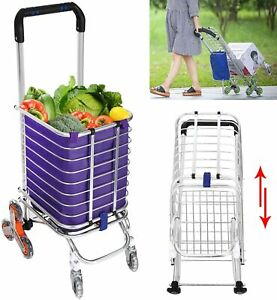 4types Heavy Duty Hand Truck Folding Shopping Cart Portable Stair Climbing Cart