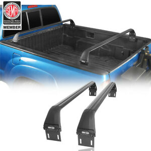 2pcs Crossbar Trunk Truck Bed Luggage Rack Bracket For Toyota Tacoma 2005 2021
