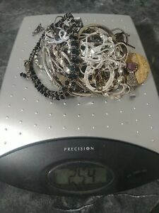 925 Sterling Silver Lot Scrap 254 Grams Total Weight See Photo All Marked Tested
