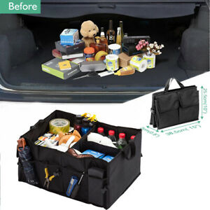 Trunk Cargo Organizer Collapsible Storage Bin Box Bag Basket For Car Truck Suv