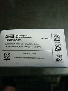 Hubbell Dual Technology 1 Circui Wall Switch Motion Sensor Lhmts1 g wh 120 277v