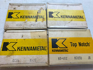 Mixed Lot Of Kennametal Solid Carbide Top Notch Inserts