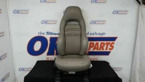 02 Chevy Corvette C5 Front Right Passenger Power Seat Shale 92i Gray Leather