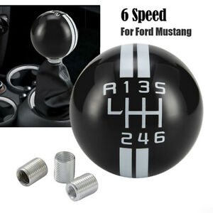 Black 6speed For Ford Mustang Shelby Gt500 Manual Gear Shift Knob Shifter Handle