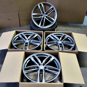 Fits Audi A4 A5 A6 A7 Tt Vw Rims 20 Inch 1196 Style Wheels Gunmetal Machined