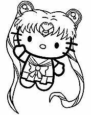 Vinyl Decal Car Sticker Hello Kitty Sailor Moon pick Size And Color