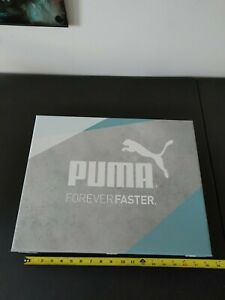 Puma Retail Shoe Display Platform Box Blue Gray White Store Fixture 18 X 14