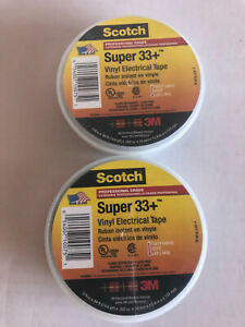 Scotch Super 33 Vinyl Electrical Tape 3 4 In X 44 Ft Black Two Rolls