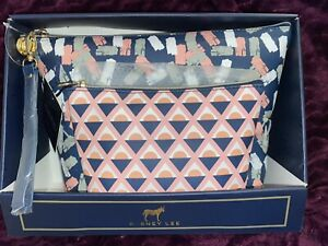 Dabney Lee Two Piece Pouch Set With Removable Wristlet Brand New $23.00