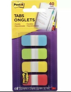 Post it Notes Easy Dispenser Assorted Tabs 676alyr New 40 Pack