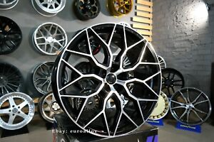 New 4x 23 Inch 5x120 Hf 2 Style Black Polished Wheels For Land Rover Range Sport