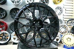 New 4x 23 Inch 5x112 Hf 2 Style 10 5j Black Alloy Wheels For Audi Q7 Q8 Rims