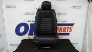 2010 11 12 Ford Mustang Gt Passenger Right Front Seat Black Leather Manual