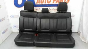 2013 Ford F150 Fx4 Crew Cab Rear Seat Assembly Black Leather