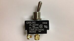 Carling Spst Switch 3a 250v Or 6a 125v pack Of 5
