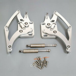 2pcs Pairs Polished Billet Aluminum Engine Hood Hinge For Ford Mustang 1967 1969