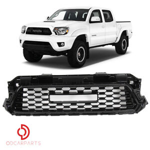 Fits Toyota Tacoma 2012 2015 Trd Style Front Upper Grille Grill Gloss Black